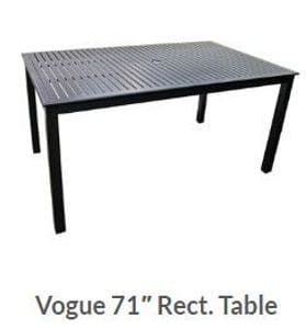 Vogue 71 x 42inch Dining Table -37