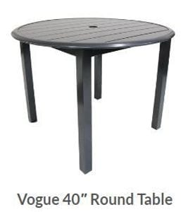 Vogue 40inch Round Dining Table -37