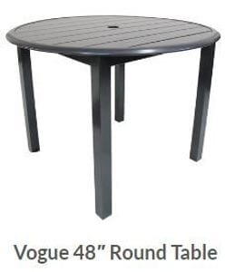 Vogue 48inch Round Dining Table -37