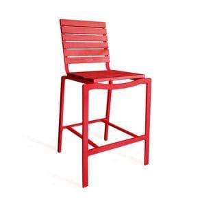 Red Armless Bar Chair