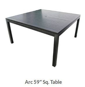 Arc 59inch Square Dining Table -37