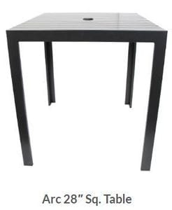 Arc 28inch Square Dining Table -37
