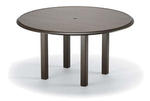 56inch Round Aluminum Dining Table
