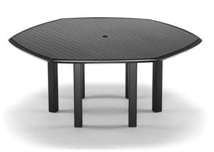 64inch Hex Aluminum Dining Table -29