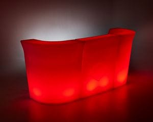 Margarita 3 PC LED Party Bar Red