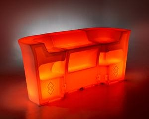 Margarita 3 PC LED Party Bar - Back - Red