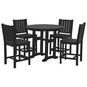 Lewiston Counter Height Dining Set - Black -48