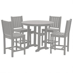 Lewiston Counter Height Dining Set - Light Grey -48