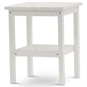 DG 15 Inch Square Side Table - White -48