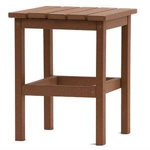 DG 15 Inch Square Side Table -Teak -48