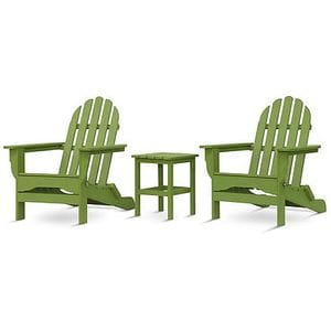 Adirondack Set with table - Lime Green -48