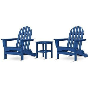 Adirondack Set with table - Royal Blue -48
