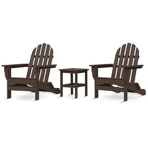 Adirondack Set with table - Chocolate -48