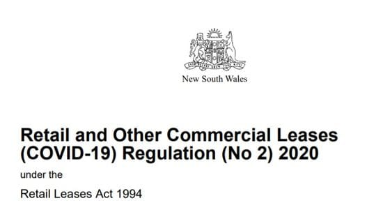 The Retail & Commercial Leases (COVID-19) New Regulation