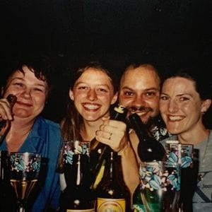 Sylvia, Ann, Philip and Katie - Christmas Party