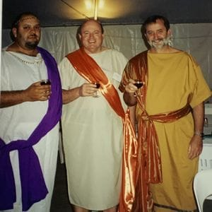 Phillip, Terry and Bruce - Toga Party