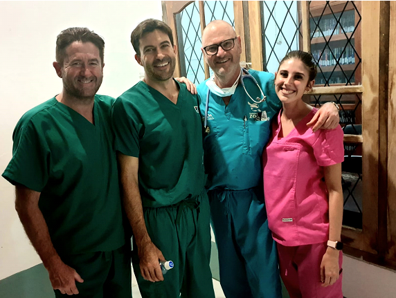 The team that helped treat the captive sun bear in Borneo