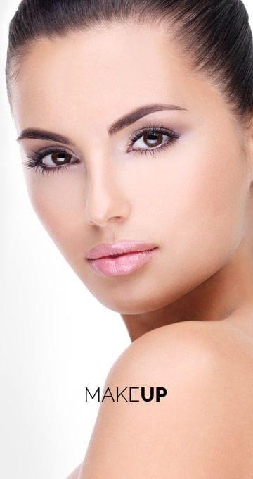 Young woman's makeup