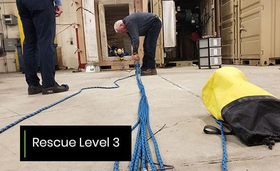 Confined space training level 3
