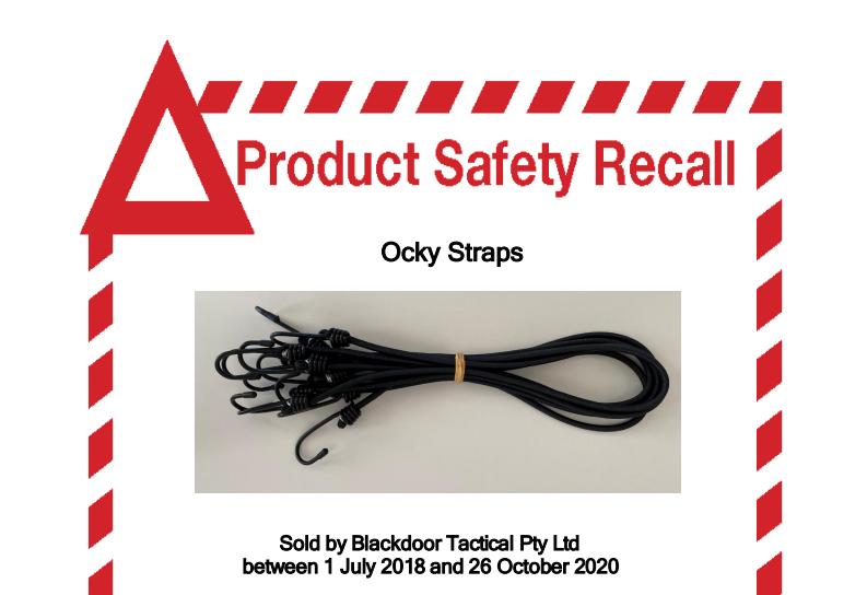 Ocky Straps Product Recalled | Blackdoor Tactical