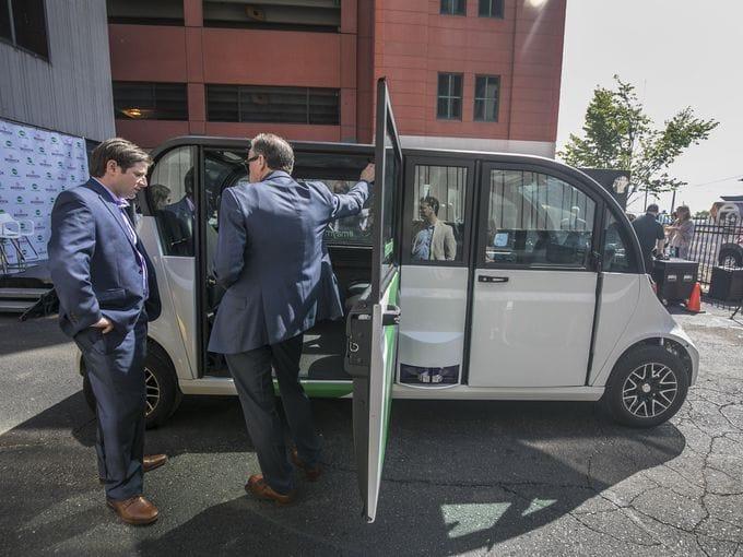 Self-driving shuttles hit Detroit streets