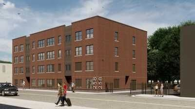 Most apartments in complex near Detroit's New Center will have $454 to $945 monthly rent