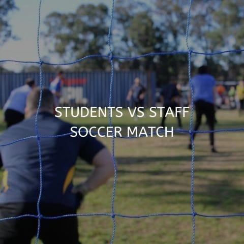 staff soccer match