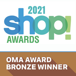 Promotional Print and Packaging wins two bronze OMA Awards from the 2021 Shop Awards!