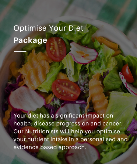 Optimizing your diet is very important and impactful whether you are currently going through treatment or have a risk or history of cancer.