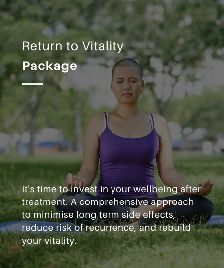 A comprehensive package to return to vitality after cancer treatment.