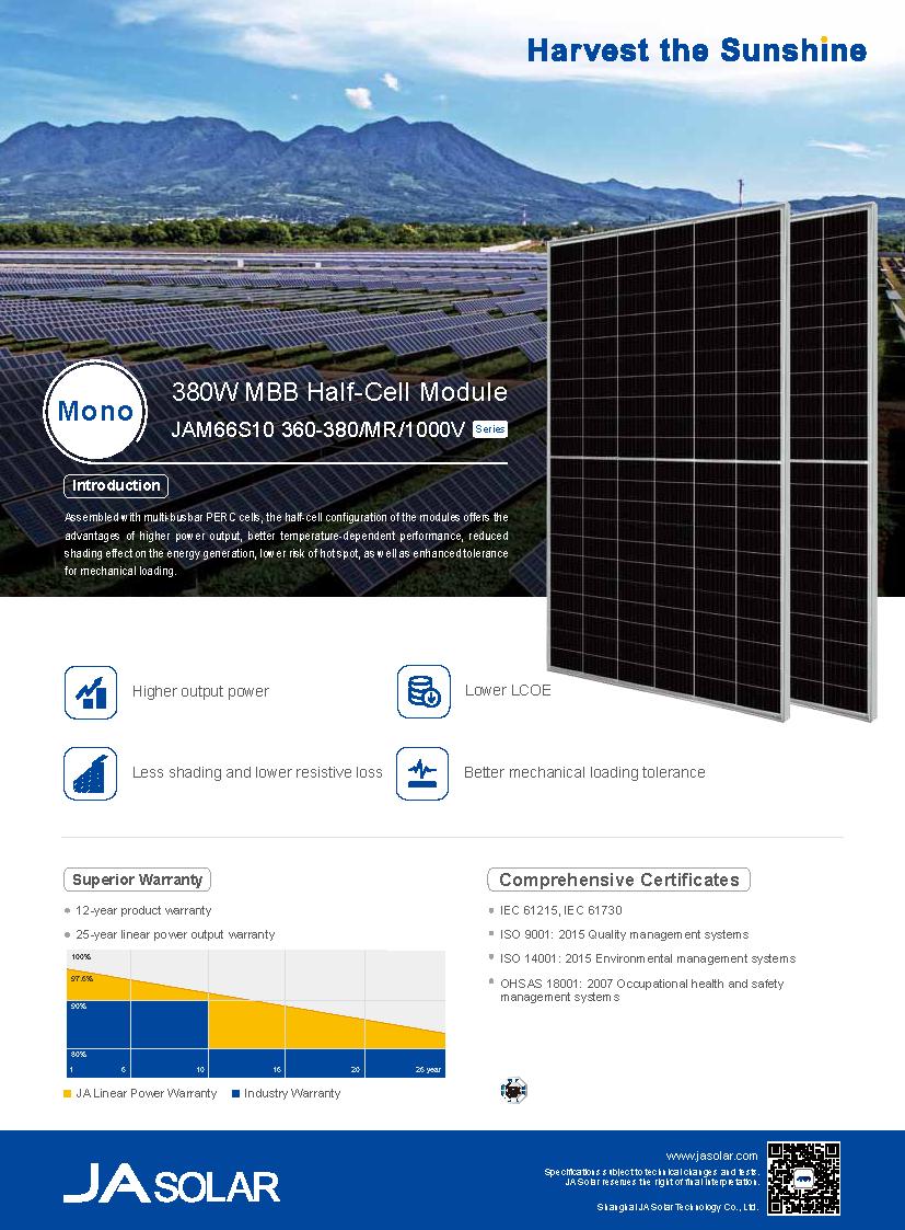 JA Solar 370w solar panel