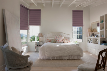 Roman blind, block out fabric, cord lock