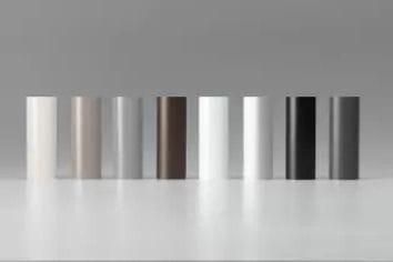 Ellipse base rail colour palette - Black, Gunmetal, Anodised, White, Bronze, Magnolia/cream, Limestone, Granite