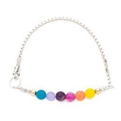 Rainbow Box Chain Bracelet