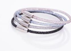 Fine Crystal Mesh Bracelets II