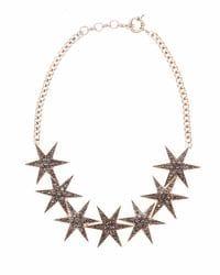 Black Crystal Star Necklace