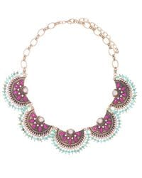 Pink and Blue Boho Necklace