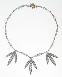 Diamante Petale Spike Necklace