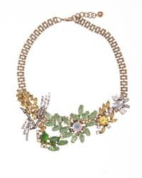 Green & Gold Deco Necklace