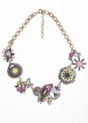 Pink & Lime Floral Necklace