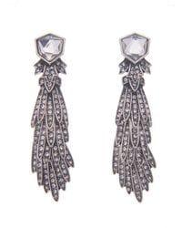 Deco Diamante Shield Earrings