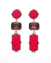 Red Mandarin Earrings