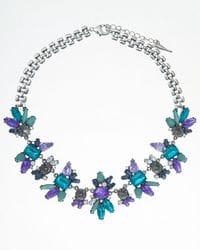 Teal & Purple Necklace