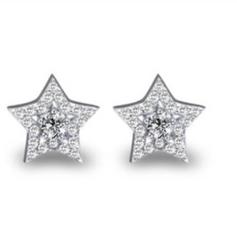 Diamante Star Stud Earrings