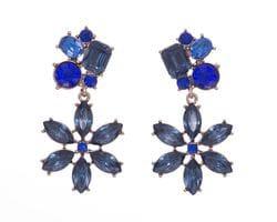 Cobalt Blue Flower Earrings