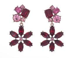 Rouge Flower Earrings