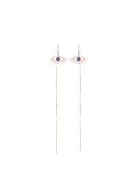 Evil Eye Threader Earrings