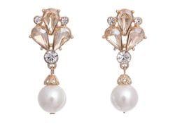 Golden Pearl & Bee Earrings