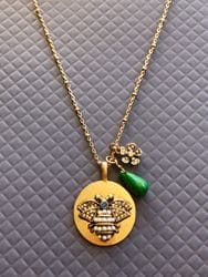 Long Bee Charm Necklace