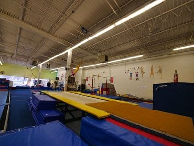 Inside Trix Acro Gym